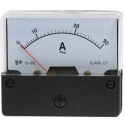 Amperemeter inbouw 30A DC
