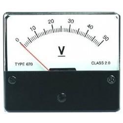 Voltmeter Inbouw 50V
