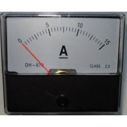 Amperemeter inbouw 15A DC