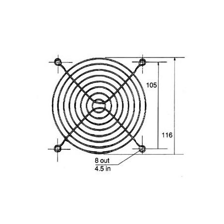 Ventilator Rooster 120mm zwart