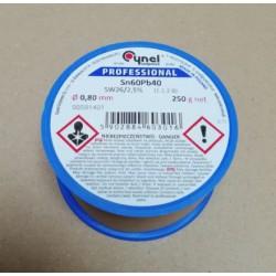 Soldeertin met lood 0,8mm 250 gram