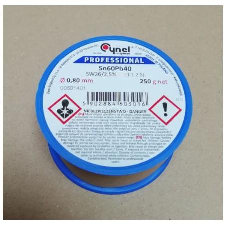 Solderwire  0,8mm 250 gram lead-based