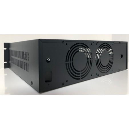 Luxe 19 Inch behuizing 3HE zwart lazy builder LCD V2