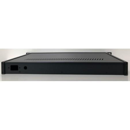 Luxe 19 Inch behuizing 1HE LCD zwart