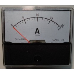 Amperemeter inbouw 20A DC