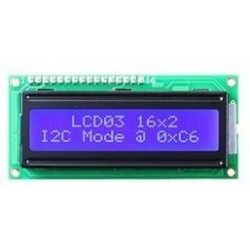 LCD Display 1x16 Blauw Met Backlight