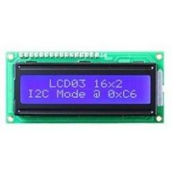 LCD Display 2x16 Blauw Met Backlight