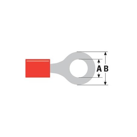 Kabelschoen rood ST-001