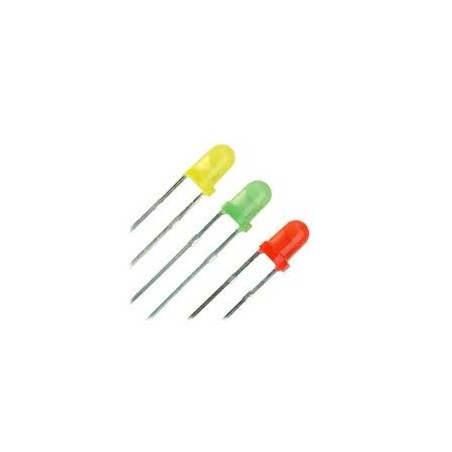 3mm LED Groen 15 Stuks