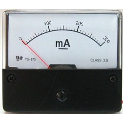 Amperemeter inbouw 300ma DC