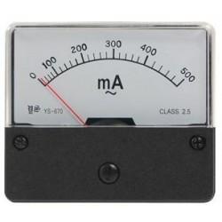 Amperemeter inbouw 500ma DC