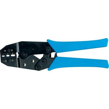 Professionele krimptang voor geisoleerde kabelschoenen