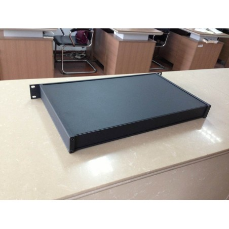 Luxe 19 Inch enclosure 1HE black
